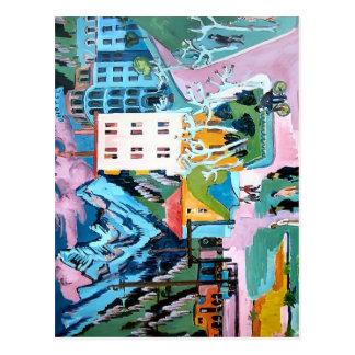 Station Ernst Ludwig Kirchner- in Davos Postkarte