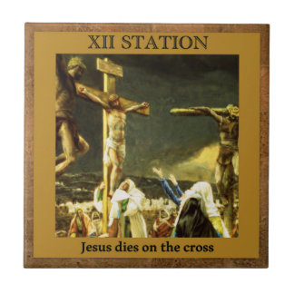 Stationen des Kreuzes #13 von 15 Jesus-Würfeln Fliese