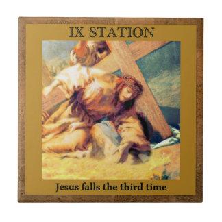 Stationen des Kreuzes #9 von 15 Keramikfliese