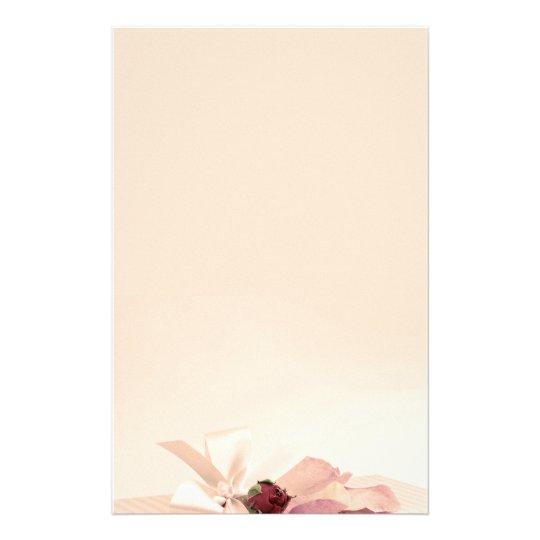stationery beige rose paper briefpapier