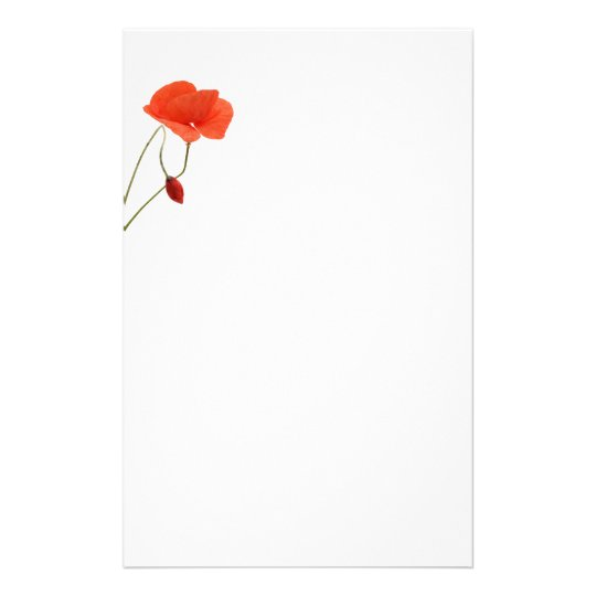 Stationery with two poppies briefpapier