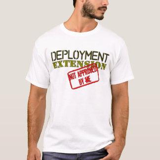 Stationierungs-Erweiterungs-nicht genehmigtes Weiß T-Shirt