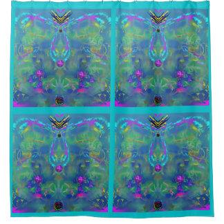 Statisches abstraktes duschvorhang