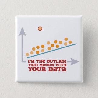 Statistik-Außenseiter Quadratischer Button 5,1 Cm