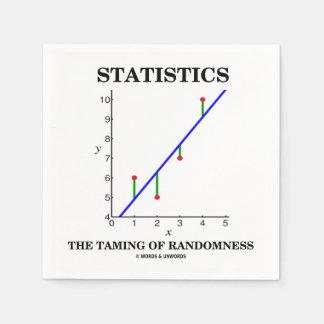 Statistiken das Zähmen von Papierservietten