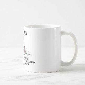 Statistiken die Kunst u. die Wissenschaft von Kaffeetasse