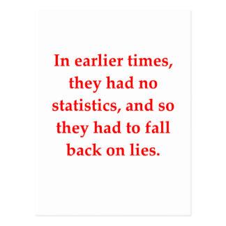 Statistiken Postkarte