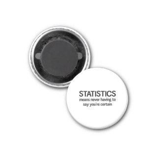 Statistiken Runder Magnet 3,2 Cm