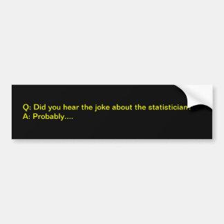 Statistikerwitz Autoaufkleber