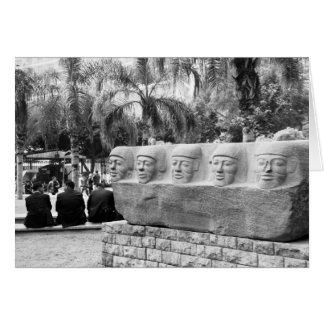 Statue am ägyptischen Museum, Kairo, Ägypten Karte