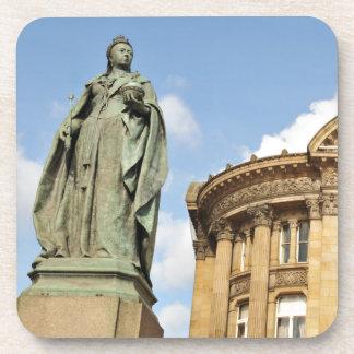 Statue der Königin Victoria in Birmingham, England Getränkeuntersetzer