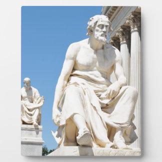 Statue des griechischen Philosophen Fotoplatte