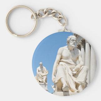 Statue des griechischen Philosophen Schlüsselanhänger