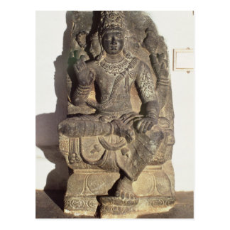 Statue des hindischen Gottes Brahma Postkarte