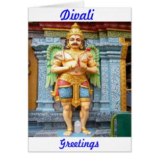 Statue des hindischen Tempels Karte