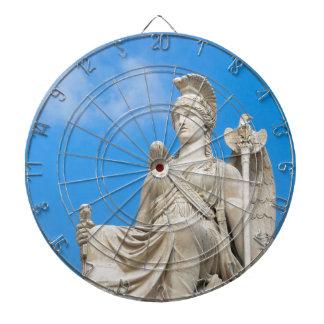 Statue einer Königin Dartscheibe
