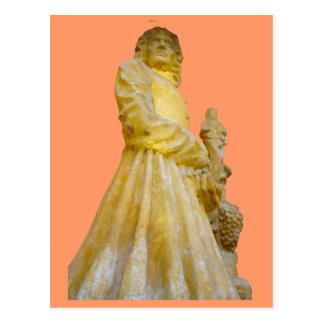 Statue eines Weinherstellers; Jura-Weinregion 1 Postkarte