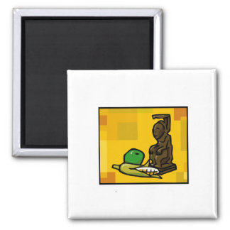 Statue für Kwanzaa Kühlschrankmagnet