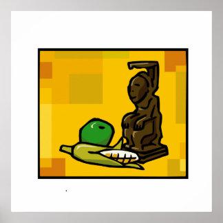 Statue für Kwanzaa Poster