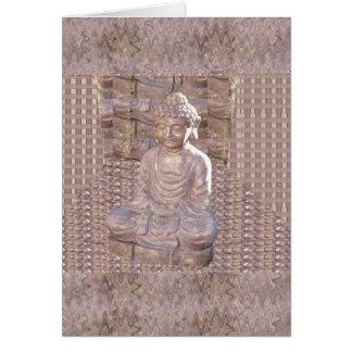 Statue-Idol-Frieden Buddhas buddhistischer Karte