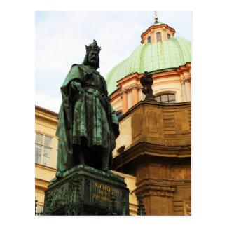 Statue Königs Charles, Prag Postkarte