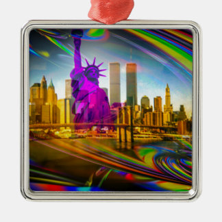 Statue of Liberty New York Silbernes Ornament