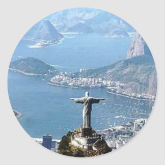 Statue Rio de Janeiro Cristo Runder Aufkleber