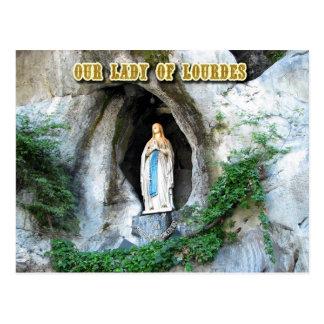 Statue unserer Dame von Lourdes, Lourdes, Postkarte