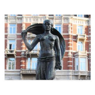 Statue von Dame Fortuna, Amsterdam Postkarte