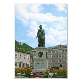 Statue von Mozart in Salzburg Fotodruck