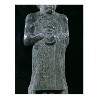 Statue von Prinzen Gudea, c.2150 BC Postkarte