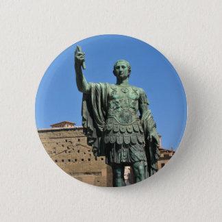 Statue von Trajan in Rom, Italien Runder Button 5,7 Cm