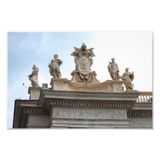 Statuen auf St Peter Quadrat in der Vatikanstadt Fotodruck