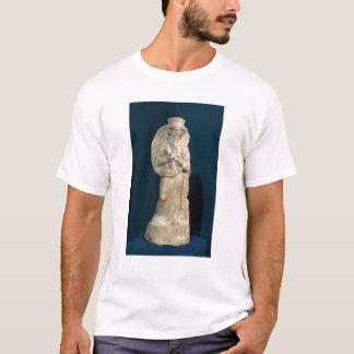 Statuette einer Frau, die eine doppelte Flöte T-Shirt