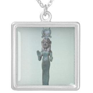 Statuette einer phönizischen Göttin Versilberte Kette