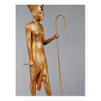 Statuette von König die rote Krone von tragend Postkarte