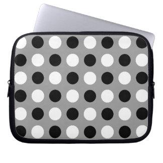 Staubige graue Tupfen Laptop Sleeve