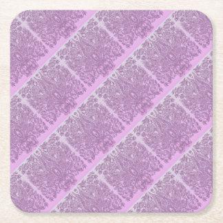 Staubige rosa Verzierung Rechteckiger Pappuntersetzer