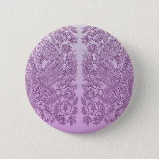 Staubige rosa Verzierung Runder Button 5,1 Cm