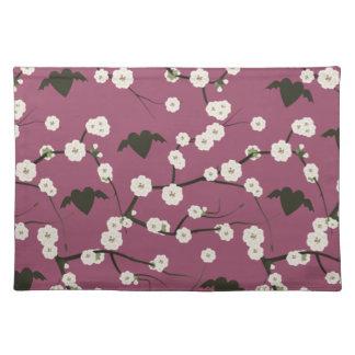 Staubige Rosen-Kirschblüten-Winged Herzen Tischset