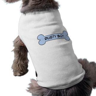 Staubiger Jungen-blauer Knochen-personalisierter T-Shirt