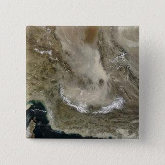 Staubsturm im Iran Quadratischer Button 5,1 Cm