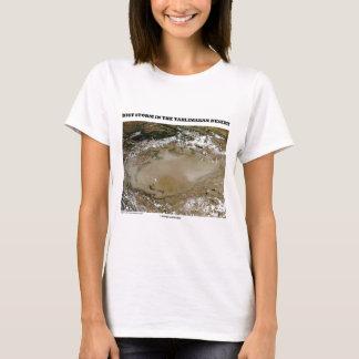 Staubsturm in der Taklimakan Wüsten-Bild-Erde T-Shirt