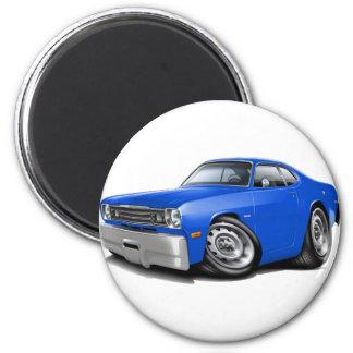 Staubtuch-Blau-Auto 1970-74 Runder Magnet 5,7 Cm