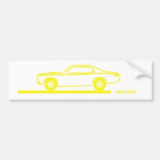 Staubtuch-gelbes Auto 1970-74 Autoaufkleber