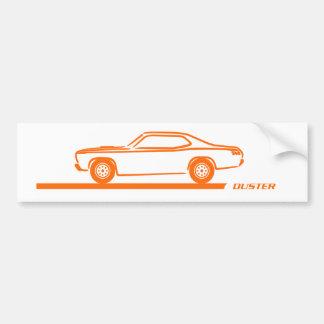 Staubtuch-Orangen-Auto 1970-74 Autoaufkleber