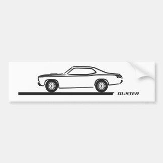 Staubtuch-schwarzes Auto 1970-74 Autoaufkleber