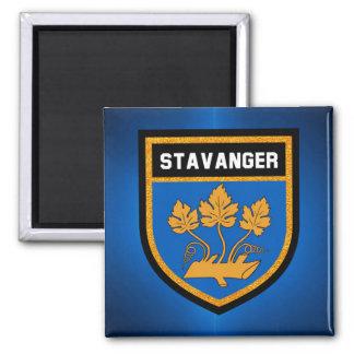 Stavanger-Flagge Quadratischer Magnet