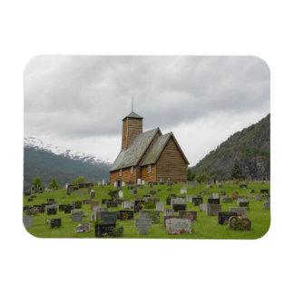 Stave Kirche und Gräber, rechteckigen Magneten Magnet