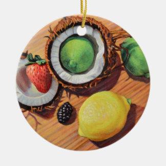 StBerry Limone Zitronen-Kokosnuss-Einheit Keramik Ornament